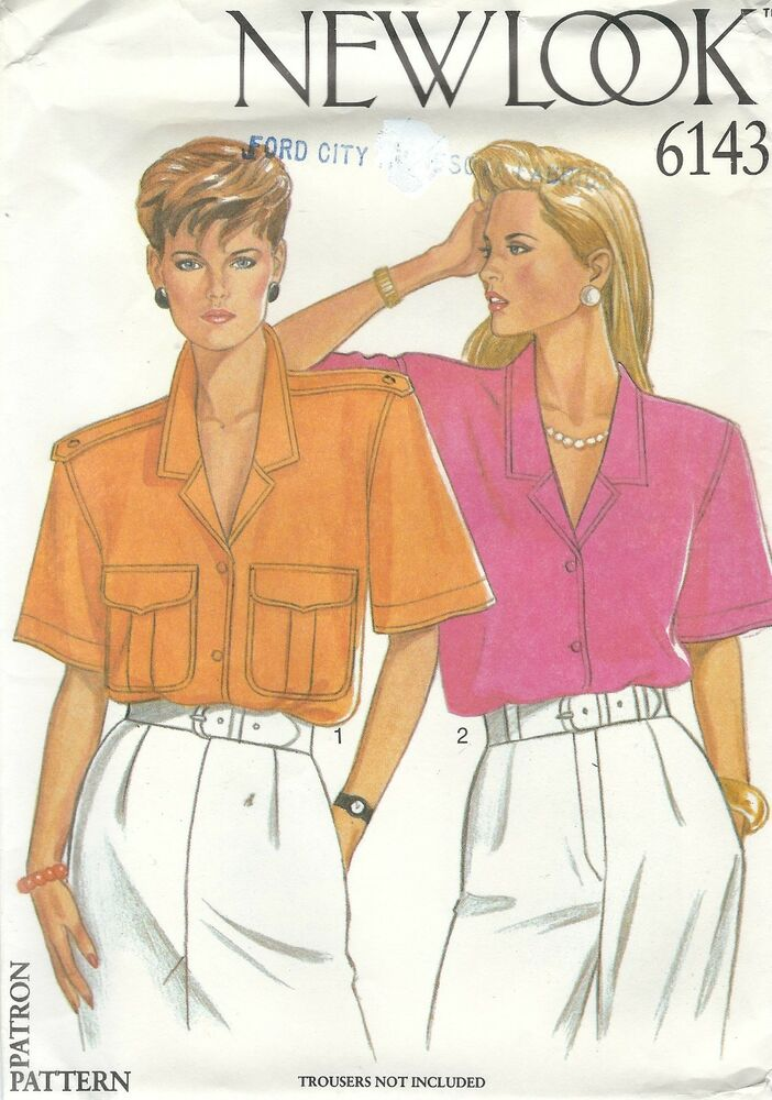 New Look 6143 Misses\' Shirts 8 to 18 Sewing Pattern | eBay