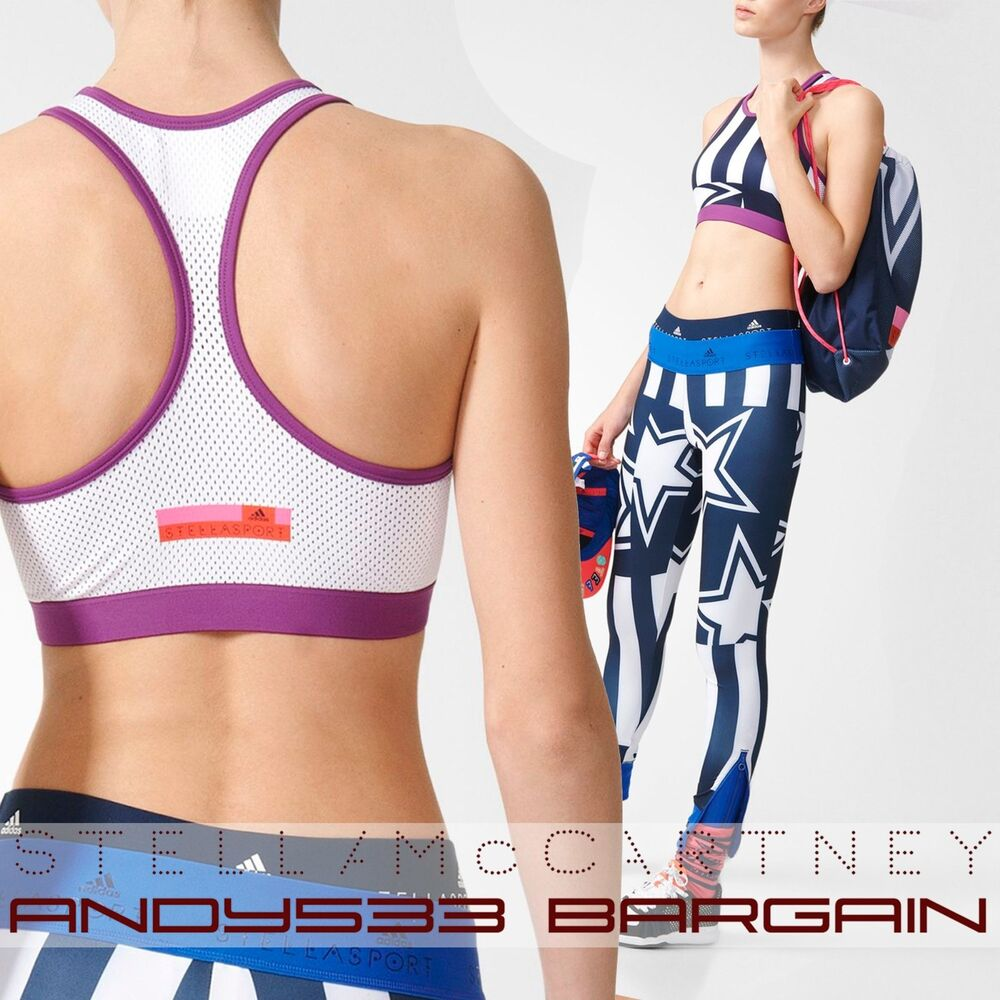 8e8f867fd79fc Details about adidas Stella McCartney STELLASPORT Sports Bra Crop Top  Climalite® Womens XS S M