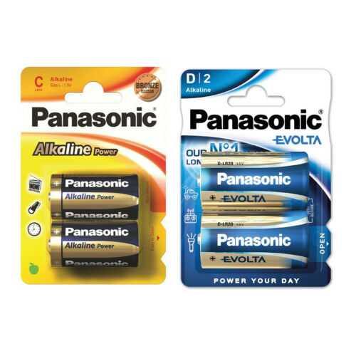 NEW PANASONIC COMBO PACK OF C AND D 2 PACK ALKALINE BRONZE POWER BATTERIES