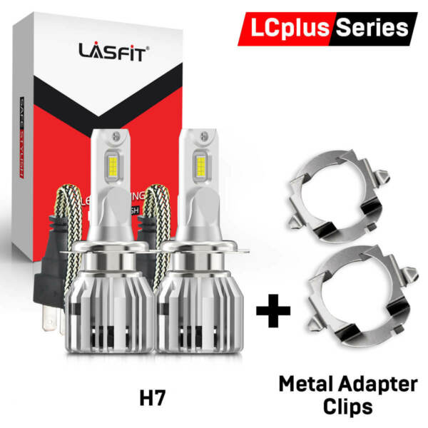 LASFIT H7 LED Headlight Retainer Adapter Clip for Mercedes Benz ML350 E350 E500