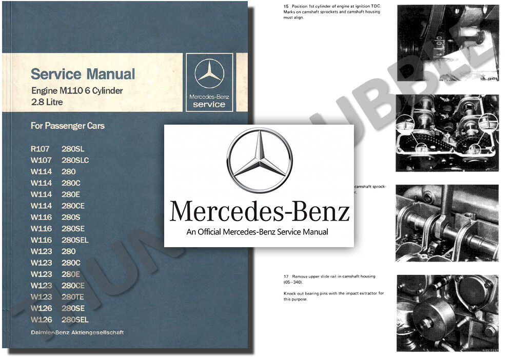Mercedes M110 Engine Service Workshop Repair Manual 280 S