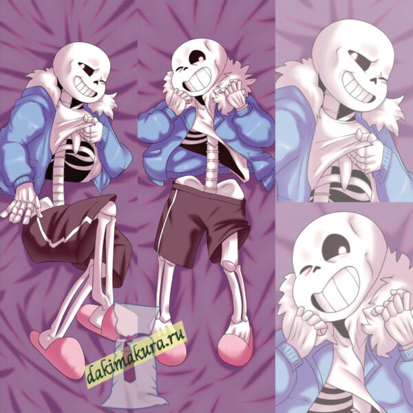 Undertale: Sans Dakimakura 50x150cm, 19.6x59 inch, Hugging Body Pillow Case N528