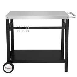 Royal Gourmet Double-Shelf Movable Multifunctional Cart Work Table PC3401S