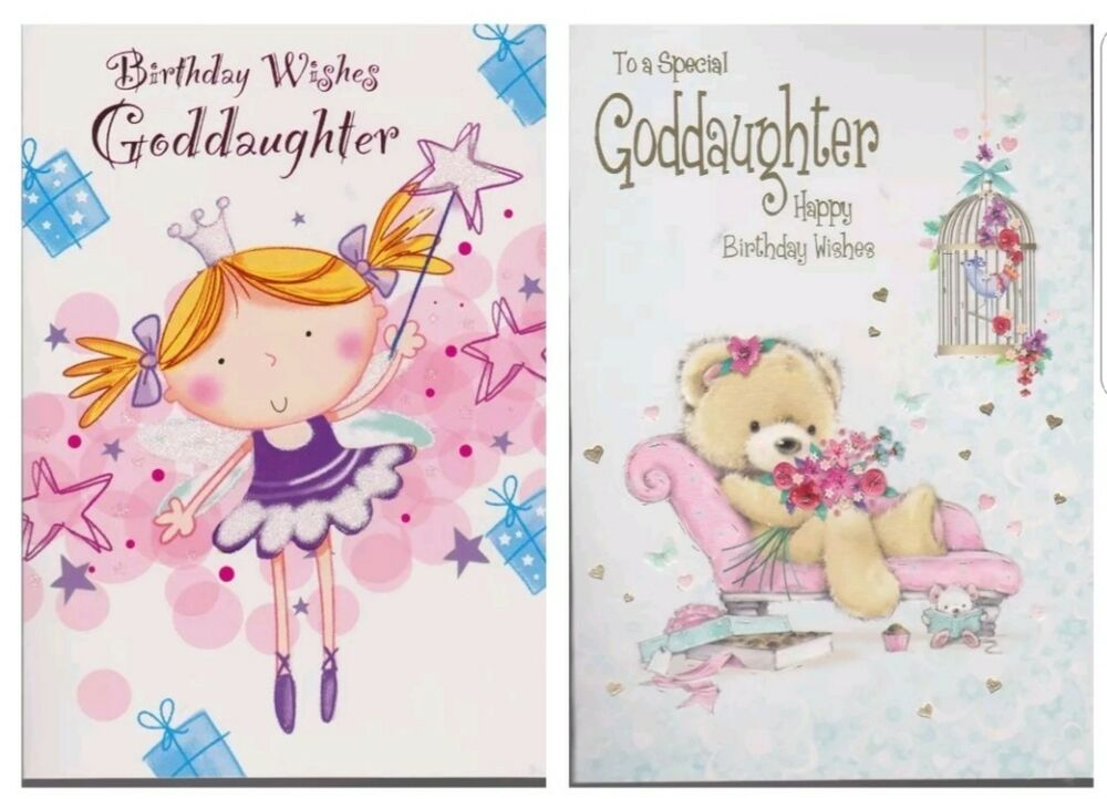 Goddaughter To A Special Birthday Wishes Card