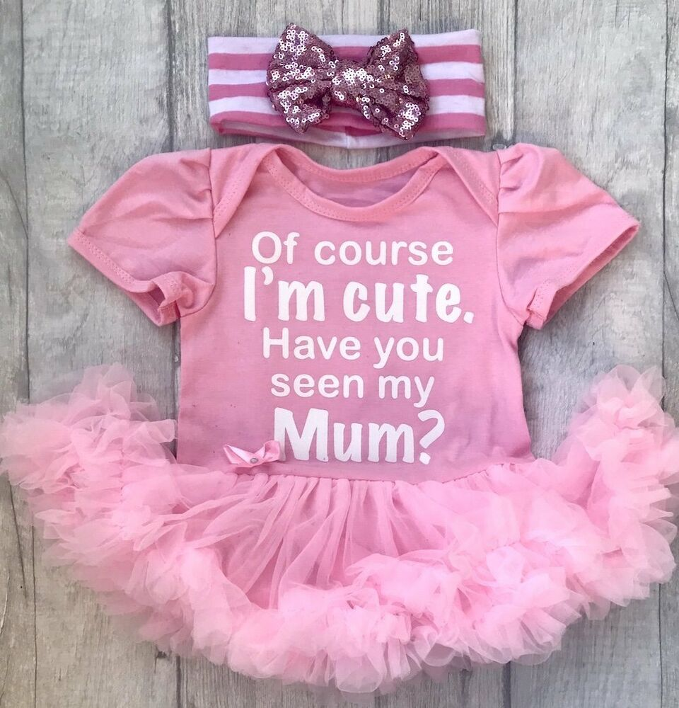 a424ecea8 Details about CUTE LIKE MUMMY BABY GIRL PINK tutu romper dress SEQUINBOW  NEWBORN Gift PRINCESS