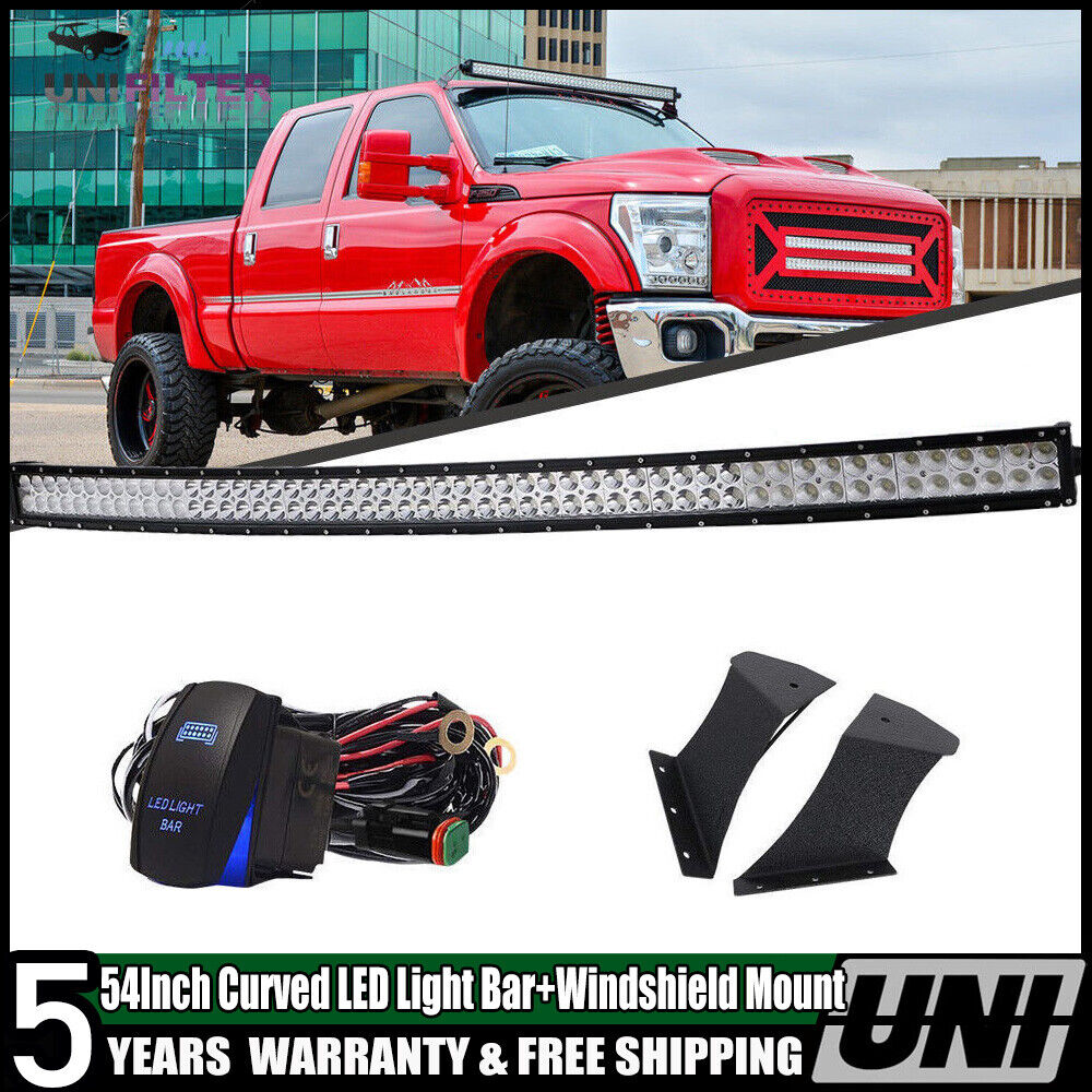 54 Curved Led Light Bar Mount Windshield Brackets For Ford F250 350 1949 F 250 4x4 Super Duty