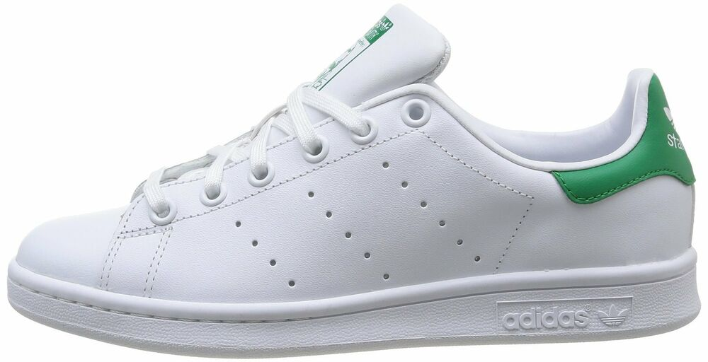 SCARPE ADIDAS STAN SMITH J M20605 COL BIANCOVERDE GREEN NR. 36 37 1/3 38 38 2/3