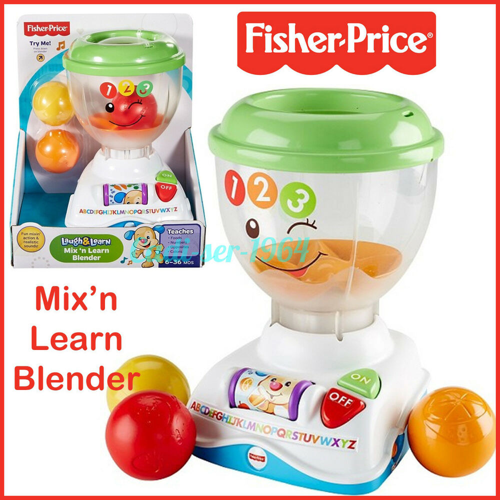 Fisher-Price Laugh & Learn Mix \'n Learn Kitchen Blender Toy Fun ...