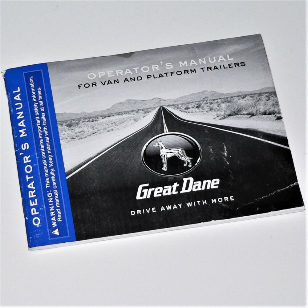 Great Dane Operators Manual For Van And Platform Trailers Pt No Wiring Schematic 42101203 Ebay