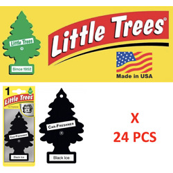 Kyпить Black Ice Freshener Little Trees 10155  Air Little Tree MADE IN USA Pack of 24 на еВаy.соm