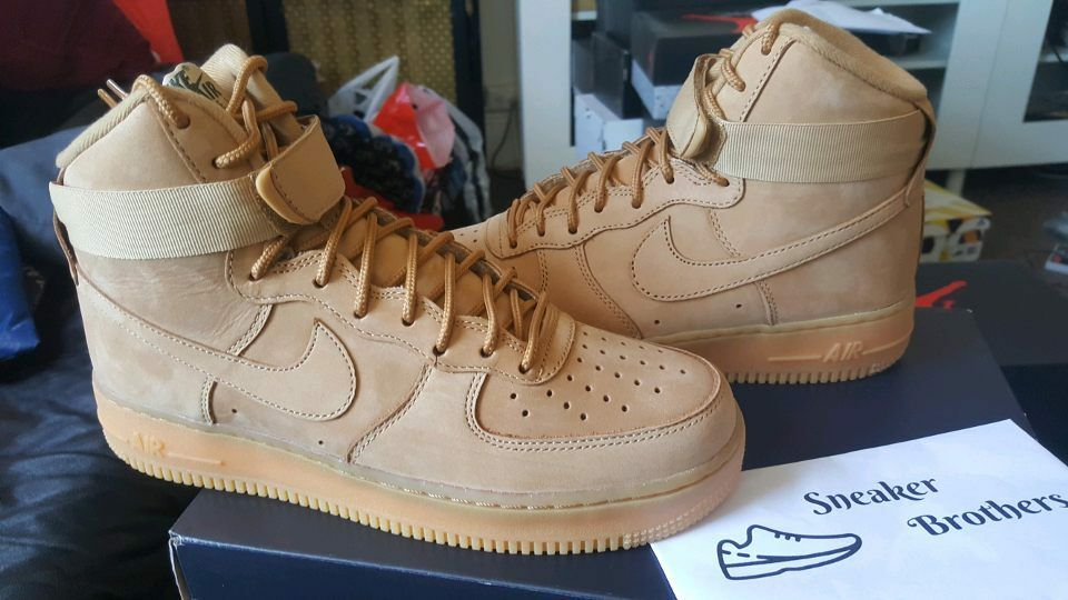 size 40 a07d3 8d8aa Details about Nike Air Force One 1 High  07 LV8 WB Flax Outdoor Green Wheat  Beige 882096-200