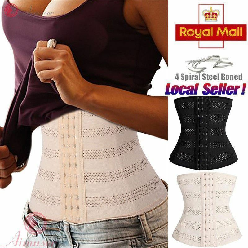 ea0fde71a1ea1 Details about UK Slimming Body Waist Shaper Training Trainer Tummy Tight Cincher  Girdle Corset
