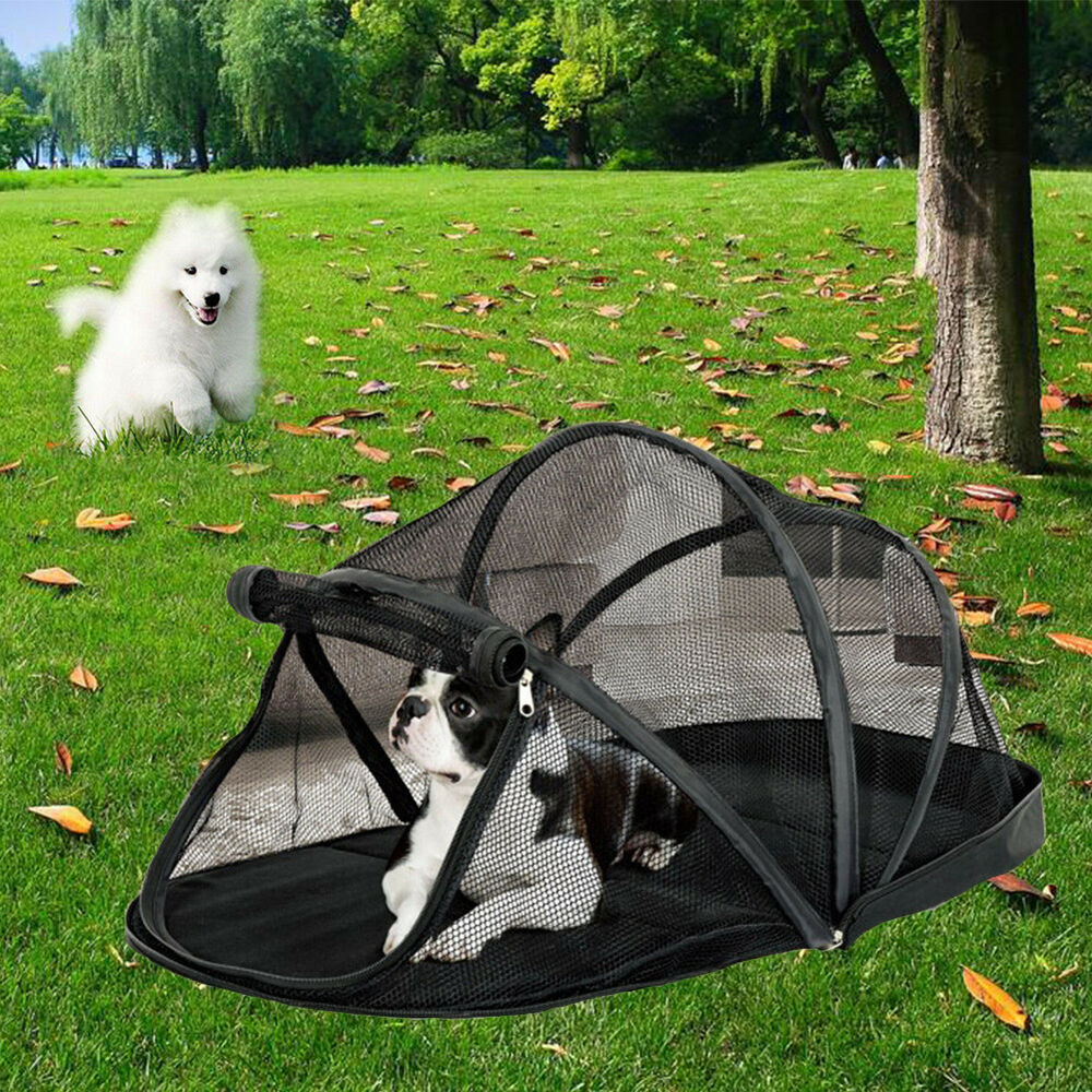 Portable Shelter Dog : Portable foldable pet enclosure dome tent dog cat camping