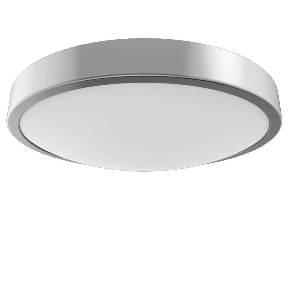 Details about powersave led flush silver bathroom ceiling light fitting ip44 rated zone 1 2 3