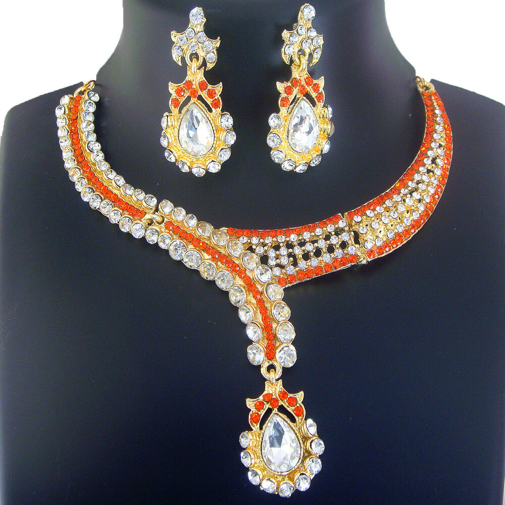 4056 Indian Bridal Jewelry Bollywood New Necklace Ethnic: Indian Ethnic Jewelry Fashion New Bridal Necklace