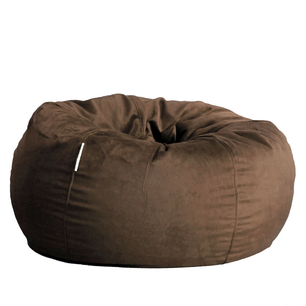 Extra Large Fur Beanbag Cover Deluxe Espresso Liner Soft