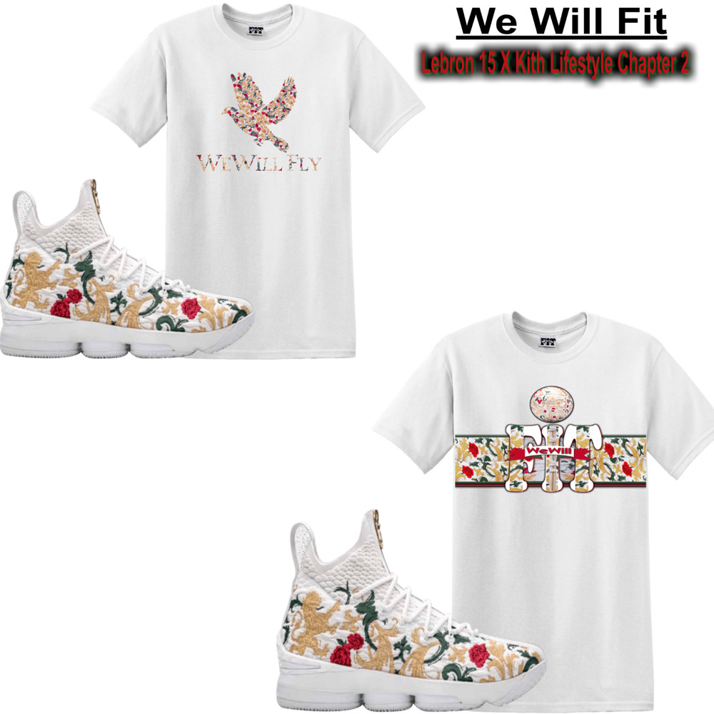 wholesale dealer 4e884 480eb Details about We Will Fit shirt match Kith x Nike LeBron 15 Performance  King s Cloak all star