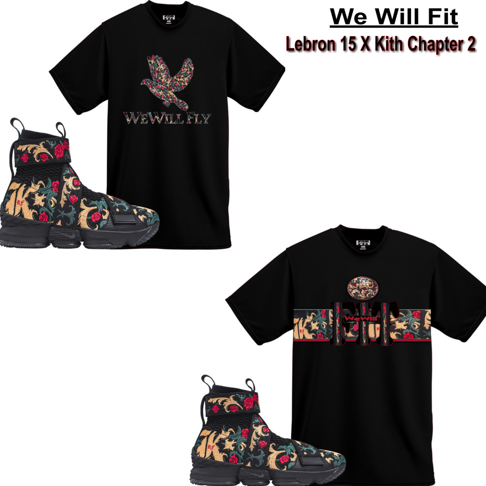 8c05e0807c39 Details about We Will Fit shirt match Kith x Nike LeBron 15 Lifestyle  King s Crown All star