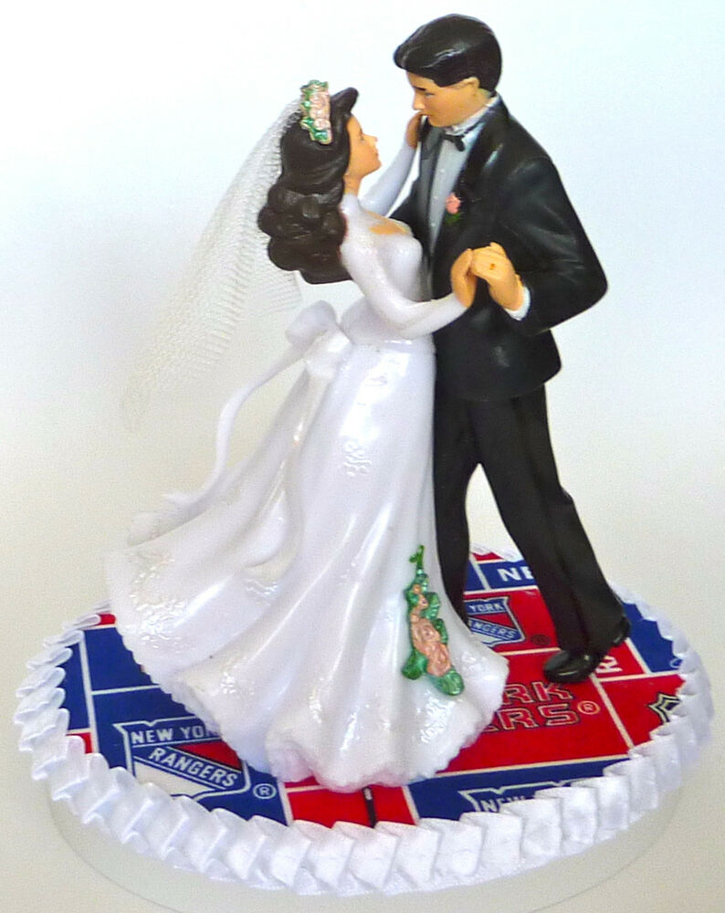 Wedding Cake Topper New York Rangers Hockey Themed NY Bride Groom ...