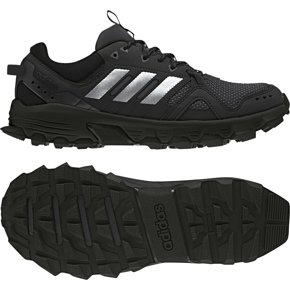 size 40 562ef bcd4f Details about Adidas Men Running Shoes Rockadia Trail Training Cloudfoam  Traxion Black CG3982