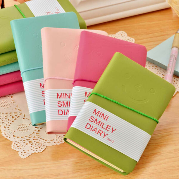 Portable Faux Leather Journal Travel Notepad Notebook Blank Diary Memo Planner