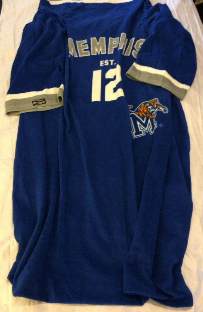 72c96171e Details about Collegiate Snuggie Memphis Tigers Soft Blanket With Sleeves  Adult VGUC