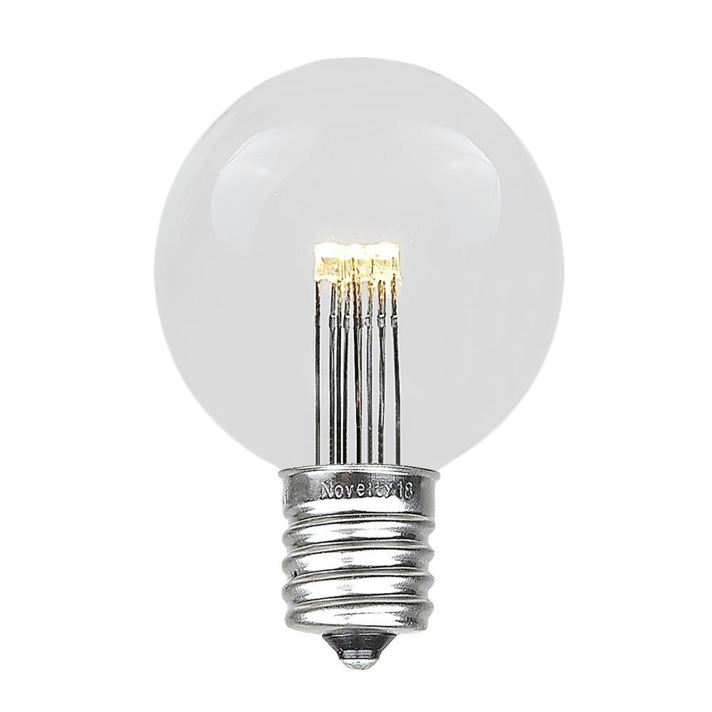Details about 25 pack led g50 outdoor patio globe replacement bulbs warm white e17 c9 base