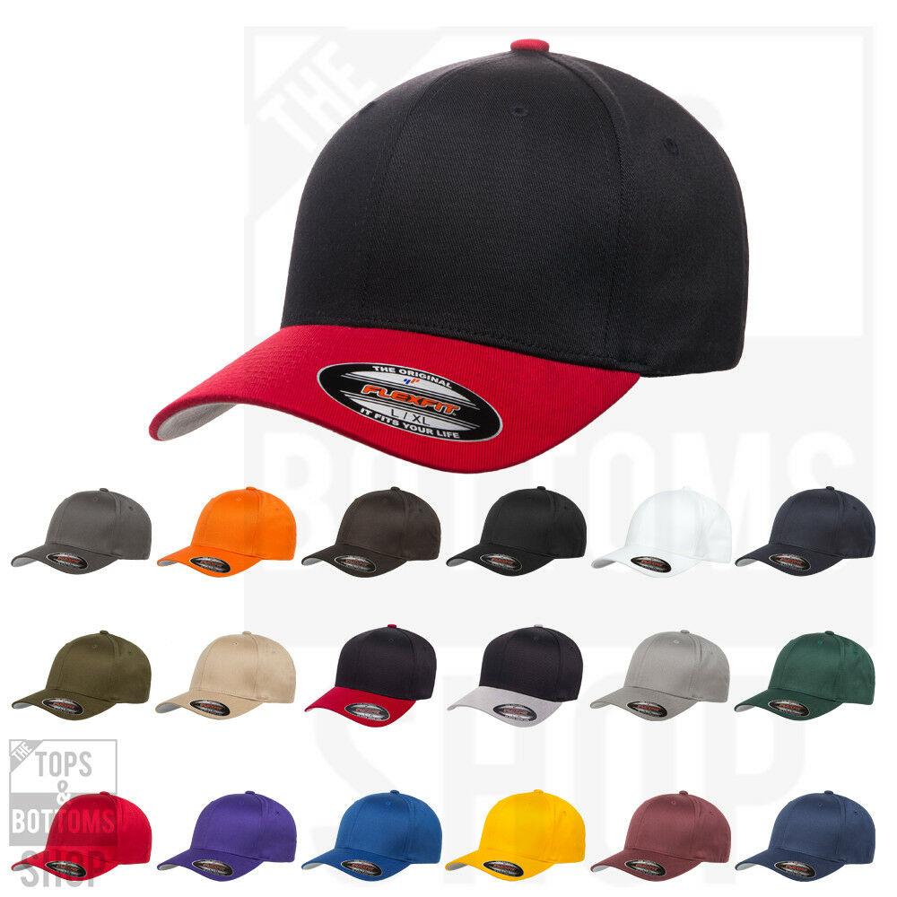 67b46e41904ce FLEXFIT COTTON BLEND FITTED BASEBALL CAP. STRUCTURED HAT MID PROFILE 6277  NEW! PRODUCT DETAILS