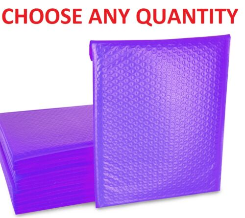 #0 6x10 PURPLE POLY BUBBLE MAILERS SHIPPING MAILING PADDED ENVELOPES 6