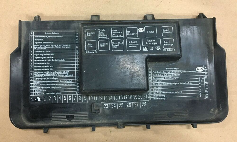 audi 80 fuse box wiring diagram all Audi TT Fuses