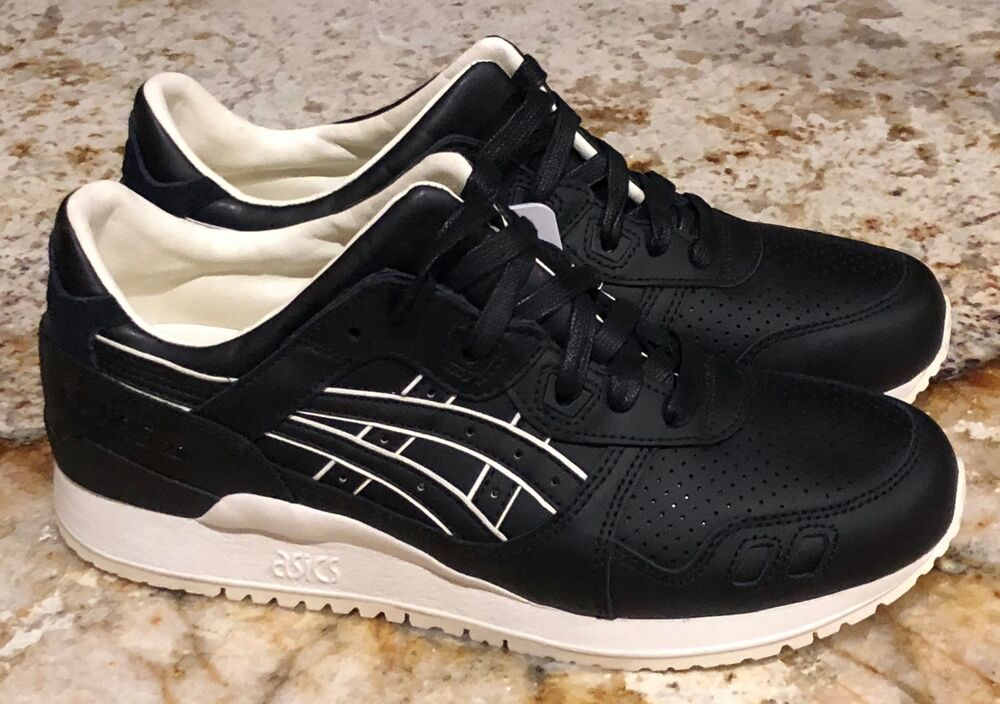 Details about ASICS Gel Lyte III Black Leather Lifestyle Casual Shoes  Sneakers NEW Mens Sz 8.5 2539a9afba97