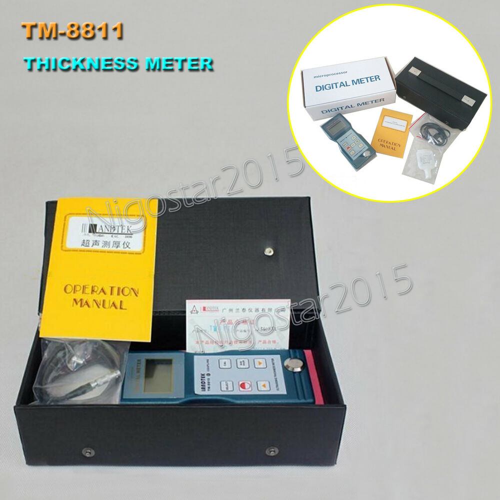 5aa90ae3a34 Details about Ultrasonic Glass Thickness Measurement Meter Gauge Tester  LANDTEK TM-8811