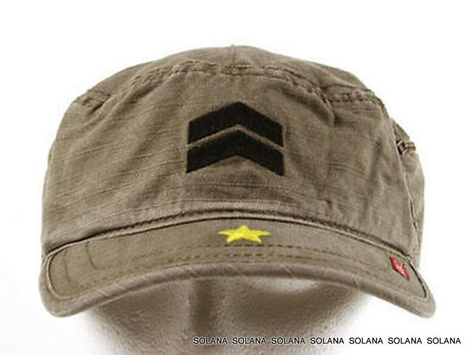 Details about A.KURTZ Military Fritz Legion Cap Hat Khaki Brown AK002 100%  Cotton sz S 0192a0340110