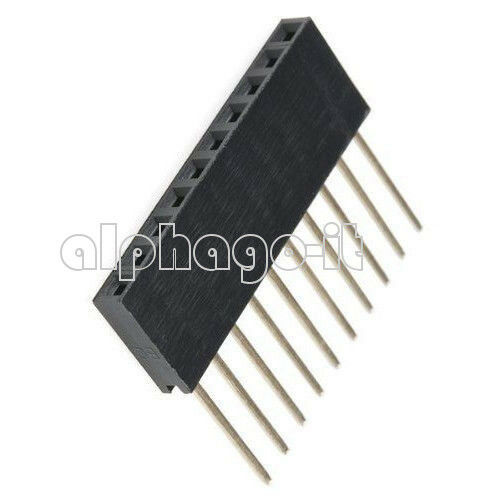 10pcs 2.54mm Pitch 10 Pin Single Row Stackable Shield Female Header for Arduino