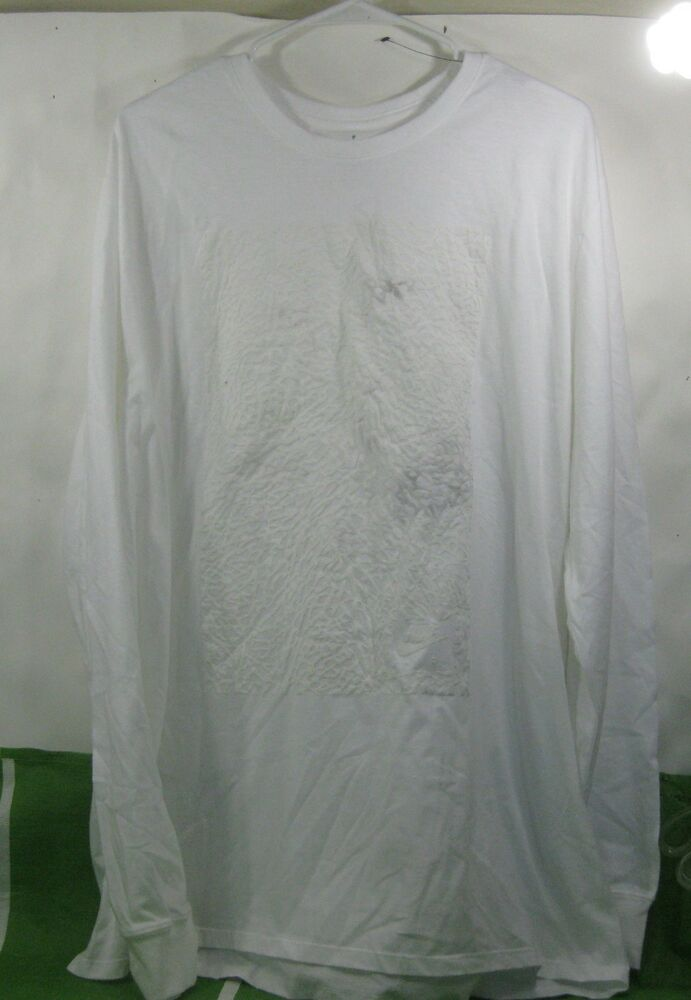 af47c8f15e50de Details about Nike JORDAN AIR Men s Sportswear Long Sleeve WHITE Shirt  Size- 2XL