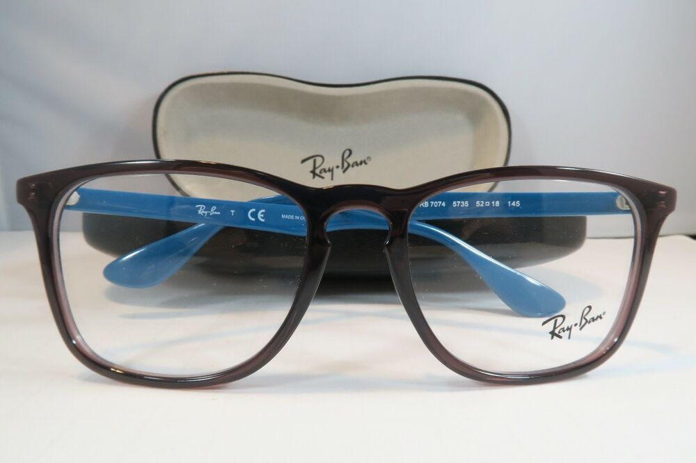 dfe23e4467 Ray-Ban Purple Glasses New with case RB 7074 5735 52mm 740224351808 | eBay