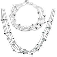 Stunning Sets Silver Earrings&Ring&Bangle&Necklace