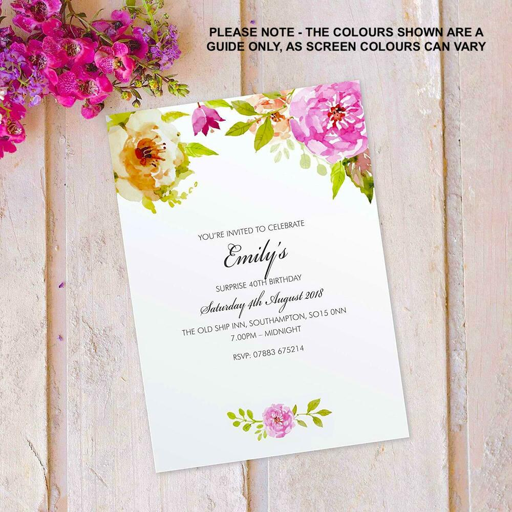 Details About Surprise 50th 60th 70th 80th 90th Birthday Party Invitations Invites X10 FLF 11