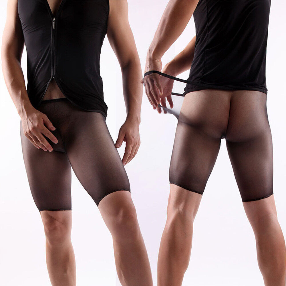 6a68af548 Details about Seamless Sheer Shiny Ultra-thin Pantyhose Men Penis Pouch  Underwear Nylon Tights