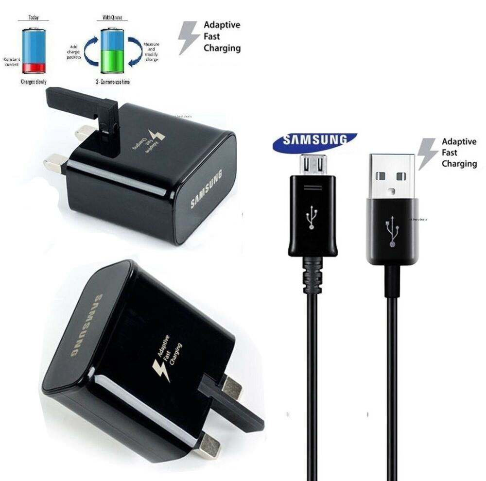 genuine samsung fast charger plug usb cable for galaxy. Black Bedroom Furniture Sets. Home Design Ideas