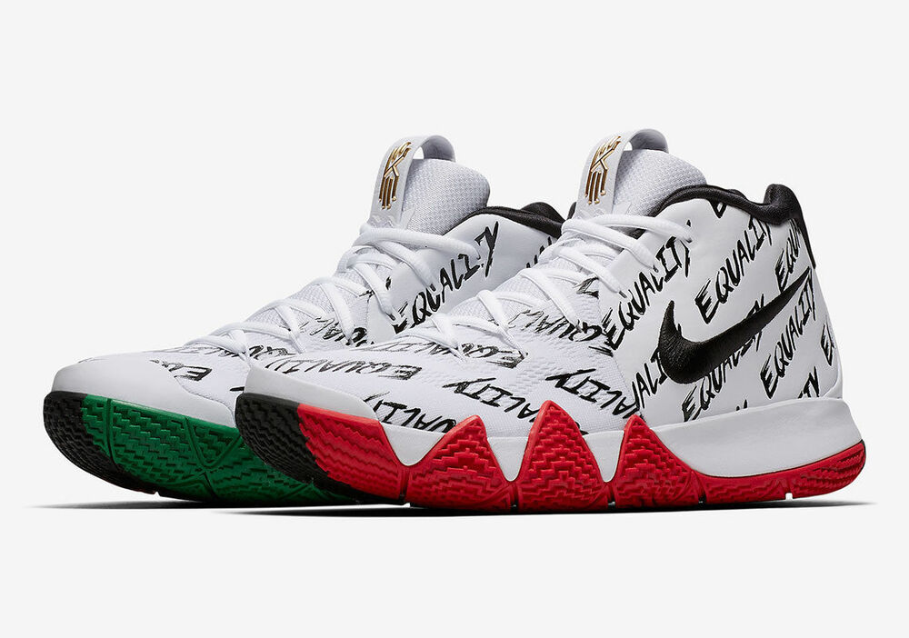 fe1dce58ddc Details about Nike Kyrie 4 BHM Equality Size 8.5. AQ9231-900. White Black  Red Green.