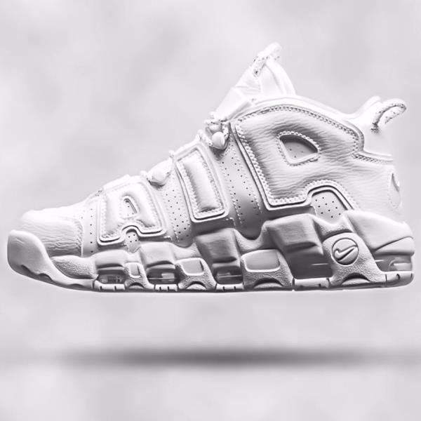 Nike Air More Uptempo 96' Triple White size 7.5. Scottie Pippen. 921948-100.