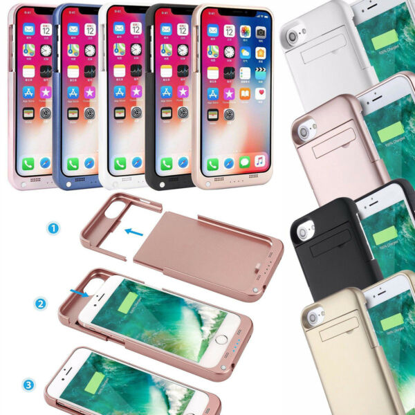 4800mAh Portable Charger Case Phone Charging External Battery For iPhone Xs 8 7+