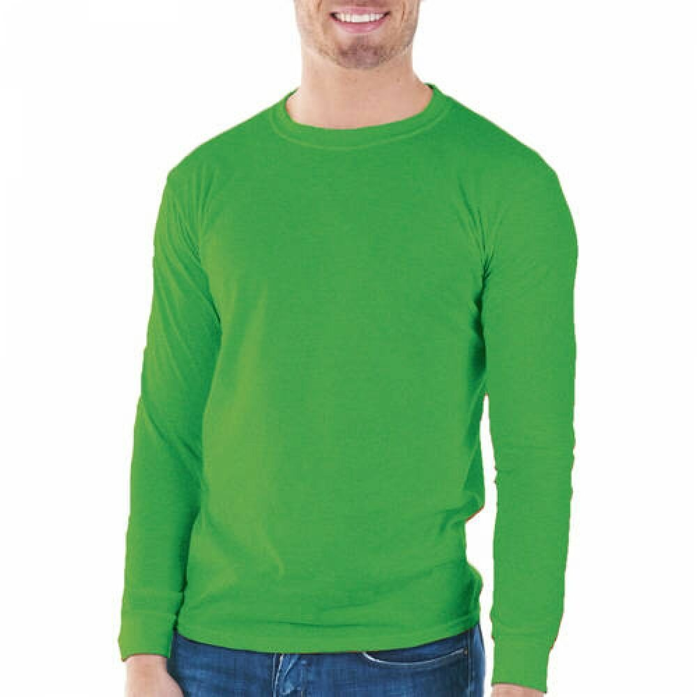 3b76d480c12 Details about Gildan Mens Classic Long Sleeve T-Shirt Irish Green --A1--