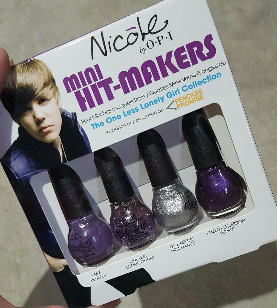 NICOLE BY OPI NAIL POLISH THE ONE LESS LONELY GIRL JUSTIN BIEBER ...