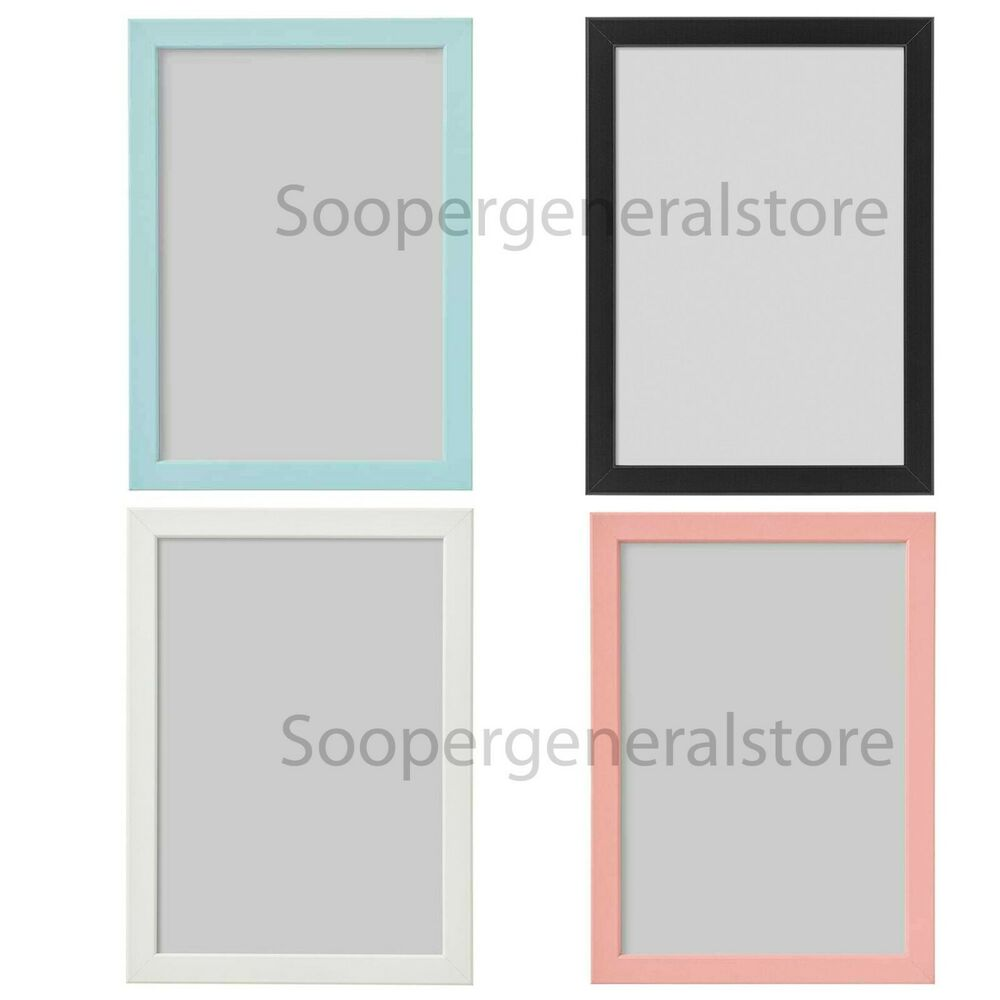 Ikea Fiskbo Photo Frame A4 Picture Pink Blue Black White