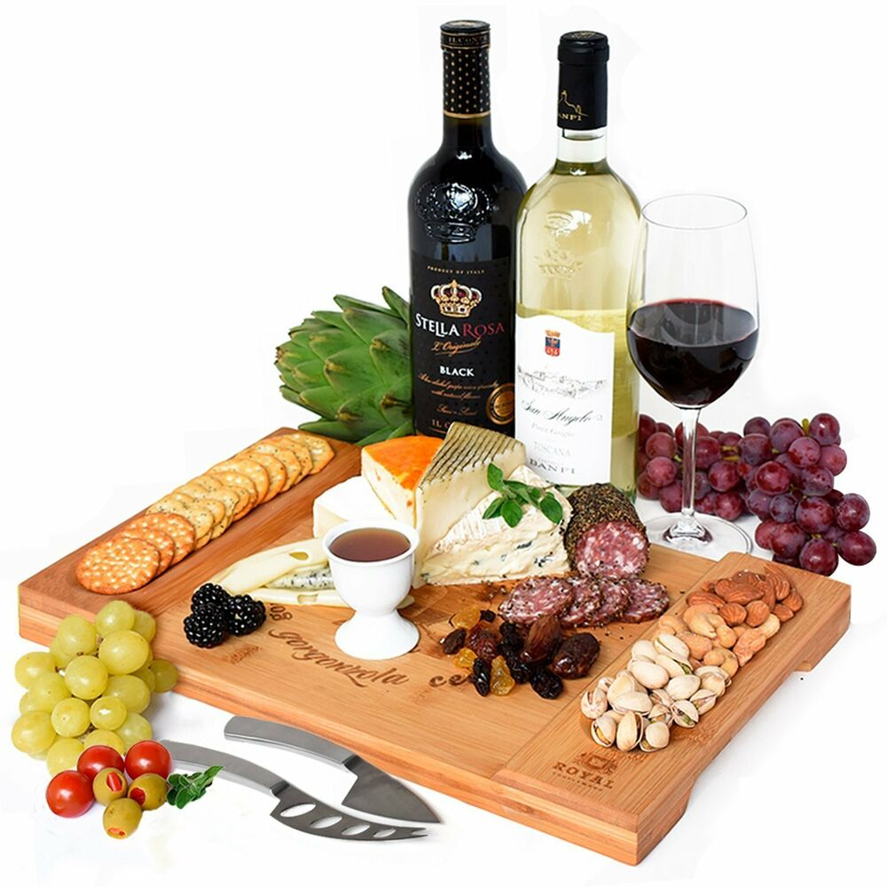 Bamboo Cheese Board Charcuterie Platter And Serving Tray