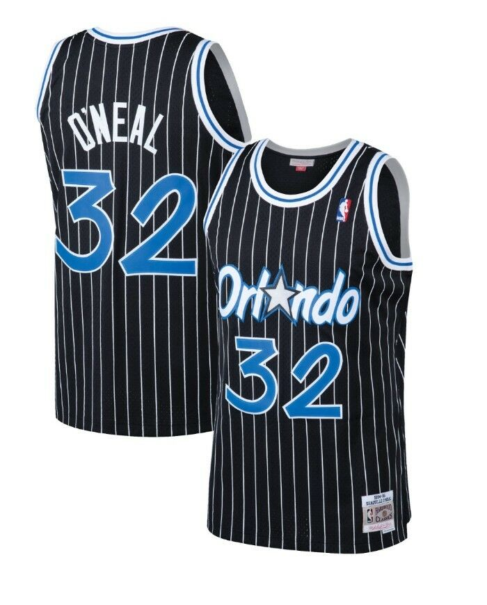 online store 41b71 df569 ... where to buy shaquille oneal orlando magic mitchell ness mesh nba  swingman jersey black 768af 81820