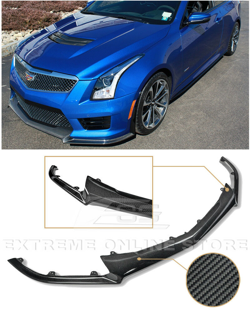 Cadillac Ats 2012: For 16-Up Cadillac ATS-V CARBON FIBER Package Front Bumper Lower Lip Splitter