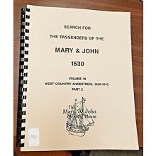 Search for the Passengers of the Mary & John 1630 Vol 18 pt 2